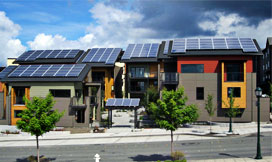 Zero-energy, carbon neutral townhouses in Issaquah