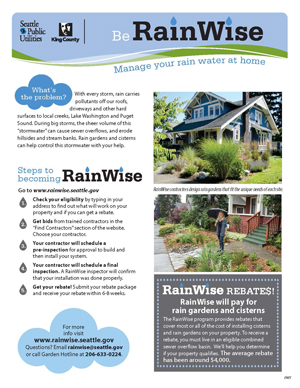 Be RainWise flyer