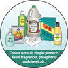 Choose natural, simple products. Avoid fragrances, phosphorous and chemicals.