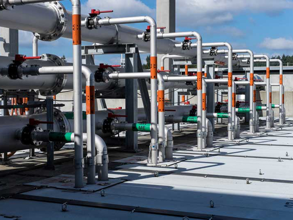 pipes at treatment plant, photo by Douglas Bailey