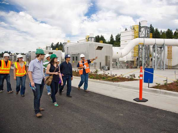 touring a treatment plant led by King County education staff