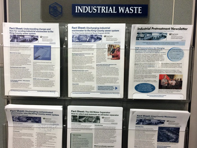 King County Industrial Waste Program newsletters and fact sheets