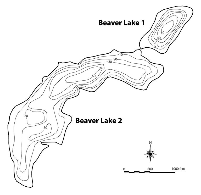 Beaver Lake bathymetry