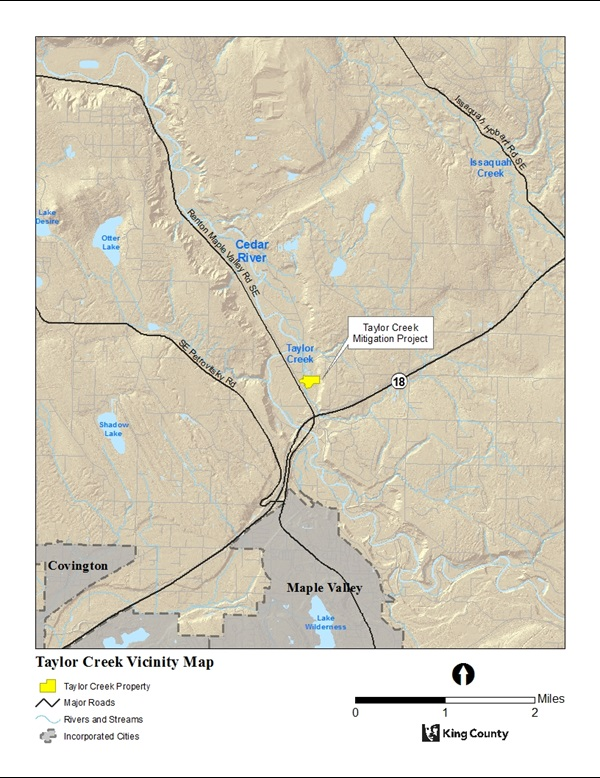 Vicinity Map for Taylor Creek Mitigation Site
