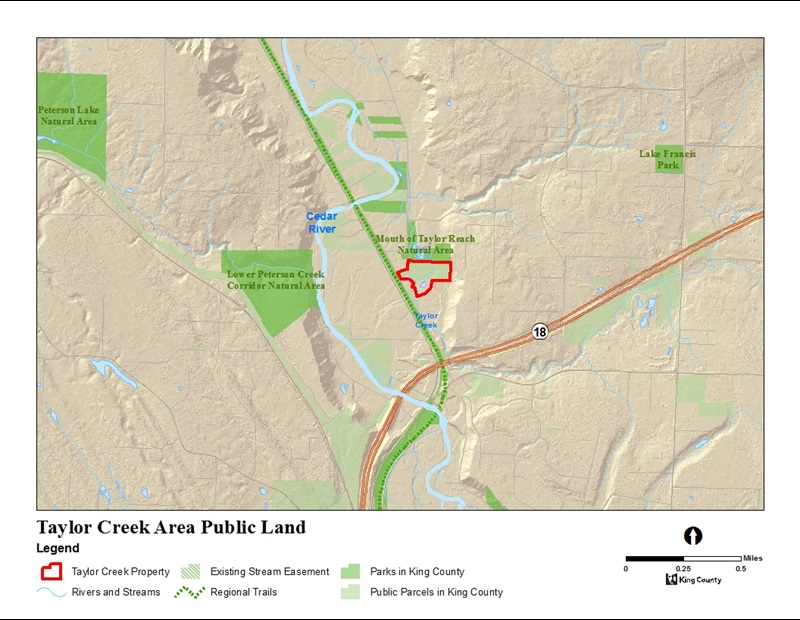 Existing public lands around Taylor Creek Mitigation Site