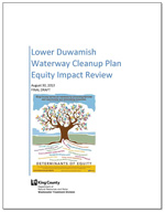 Lower Duwamish Waterway Cleanup Plan Equity Impact Review, Final Draft, August 30, 2013