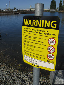 The Washington State Department of Health has issued a fish advisory in the Lower Duwamish