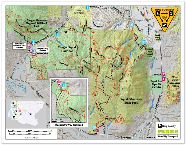Tiger Mountain Map Recreation Maps   King County Tiger Mountain Map
