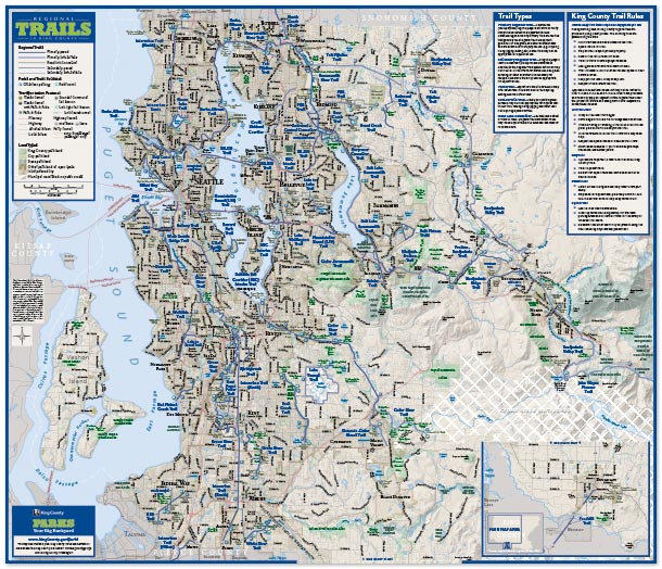 King County Topographic Map.Recreation Maps King County