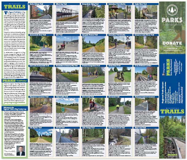 Regional Trails in King County text layout preview