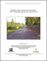 Red Brick Road Condition Assessment Report