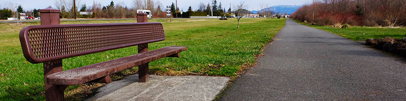 A bench on the Foothills Trail