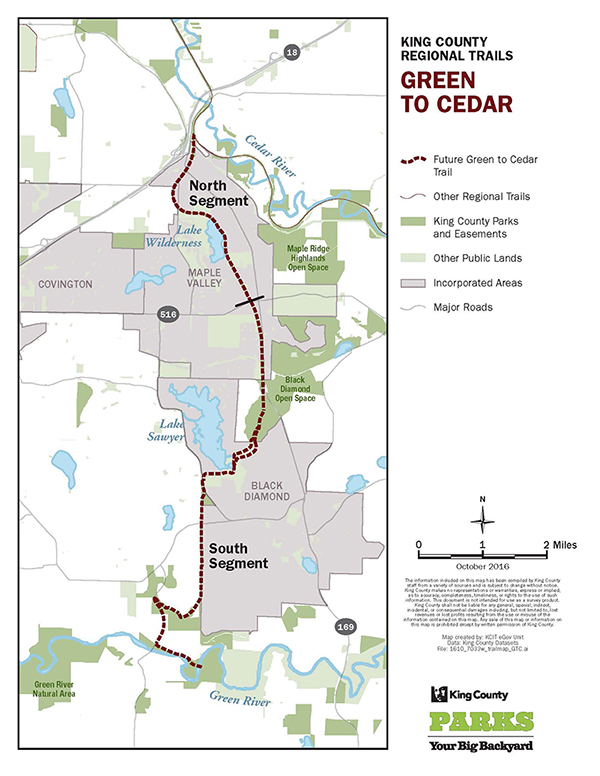 Green to Cedar Rivers Trail Map