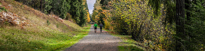 Walkers along the Green to Cedar Rivers Trail