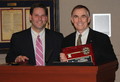 "King County Councilmember receives Federal Way's first ever ""Key to the City"" from Mayor Jim Ferrell."